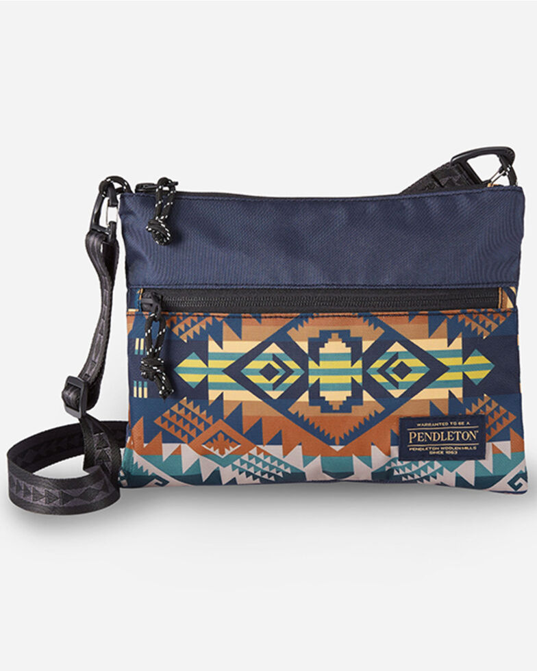 Pendleton Women's Journey West Sacoche Crossbody Bag, Blue, hi-res