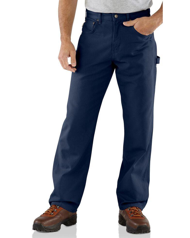 Carhartt Loose Fit Canvas Carpenter Five Pocket Work Pants, Navy, hi-res