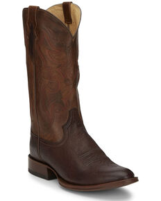 Tony Lama Men's Patron Chocolate Western Boots - Round Toe, Brown, hi-res