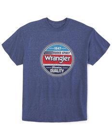 Wrangler Men's Denim Heather Rodeo Spirit Graphic T-Shirt , Blue, hi-res