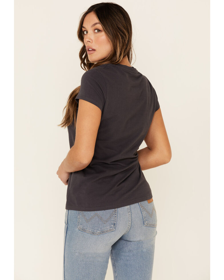 Ariat Women's R.E.A.L Oasis Logo Graphic Short Sleeve Tee , Navy, hi-res