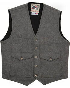 Schaefer Outfitter Men's Charcoal Scout Melton Wool Vest - 3XL, Charcoal, hi-res