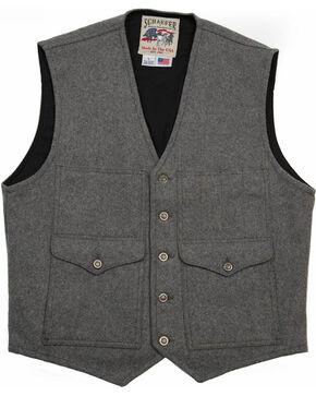 Schaefer Outfitter Men's Charcoal Scout Melton Wool Vest , Charcoal, hi-res