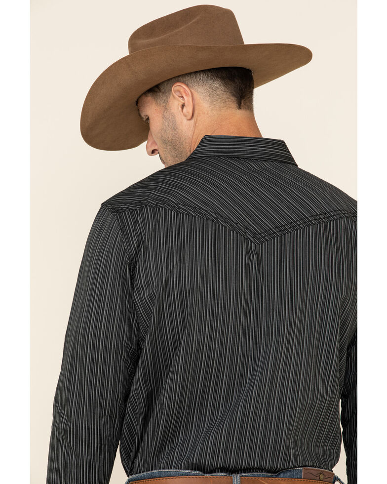 Cody James Men's Basin Striped Long Sleeve Western Shirt , Black, hi-res