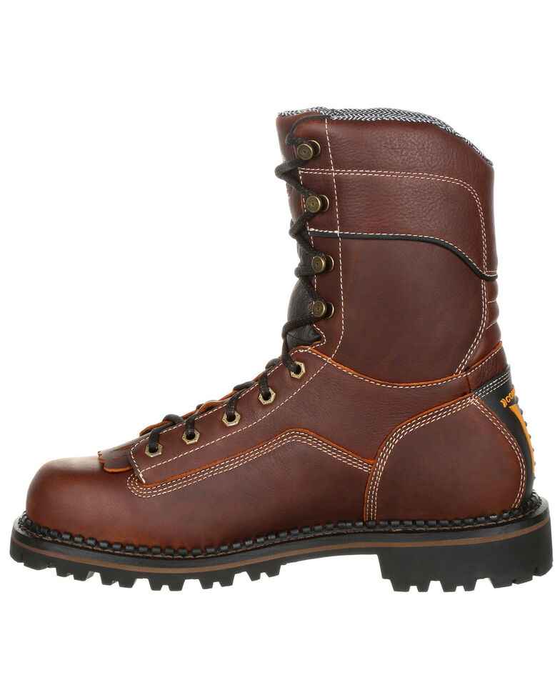 Georgia Boot Men's Amp LT Waterproof Logger Boots - Round Toe, Brown, hi-res