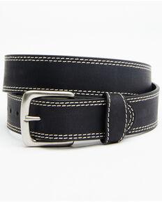 Hawx® Men's Double Contrast Stitch Work Belt, Black, hi-res