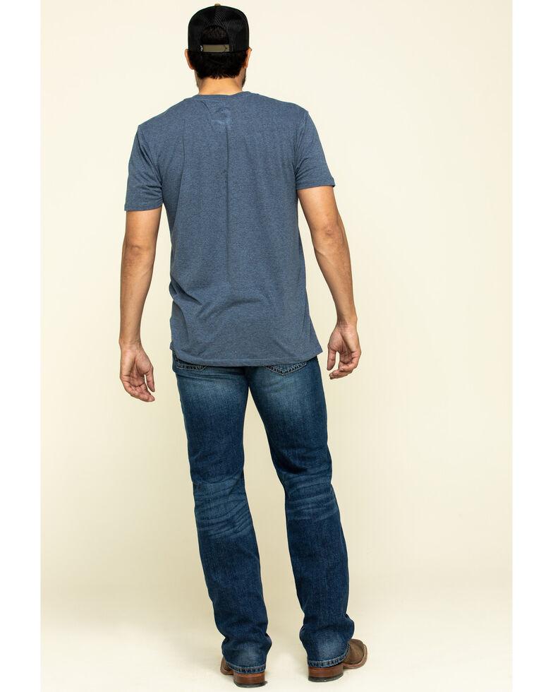 Ariat Men's M7 Rocker Summit Dark Stretch Stackable Slim Straight Jeans , Indigo, hi-res