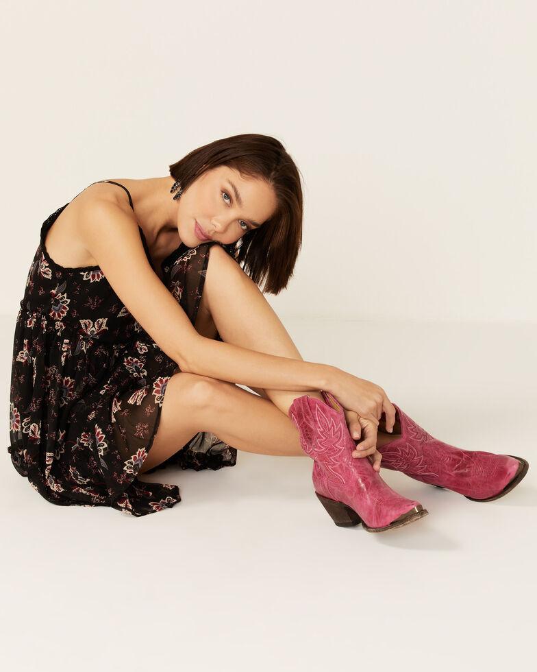 Idyllwind Women's Wheels Pink Western Booties - Round Toe, Magenta, hi-res
