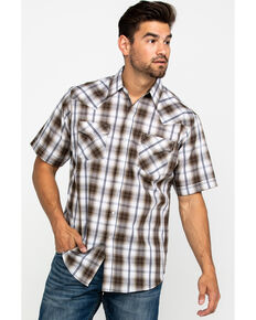 Ely Cattleman Men's Assorted Multi Textured Large Plaid Short Sleeve Western Shirt  , Multi, hi-res