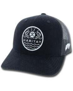 HOOey Men's Black Element Habitat Patch Ball Cap , Black, hi-res