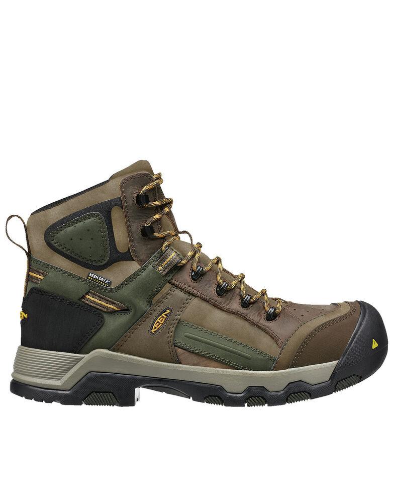 Keen Men's Davenport Waterproof Work Boots - Composite Toe, Brown, hi-res