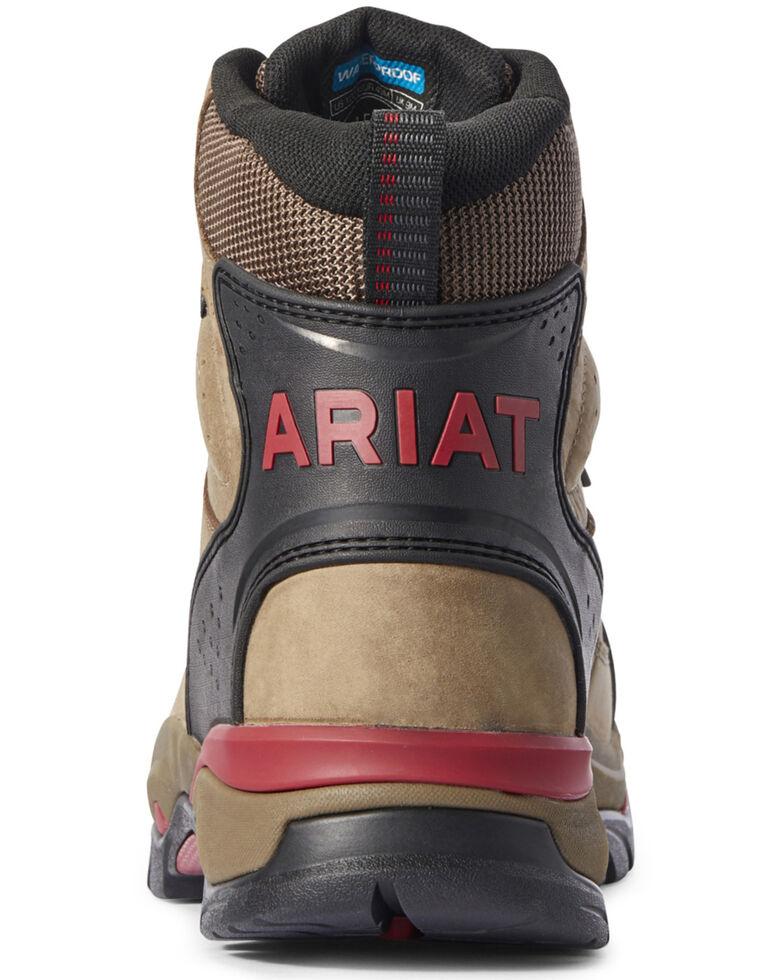 Ariat Men's Brown Endeavor Waterproof Work Boots - Soft Toe, Brown, hi-res