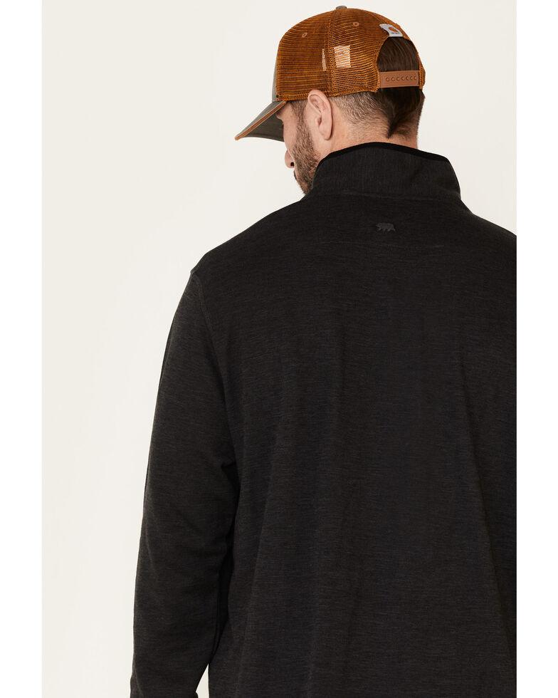 Dakota Grizzly Men's Onyx Dash 1/4 Zip Heathered Pullover , Black, hi-res