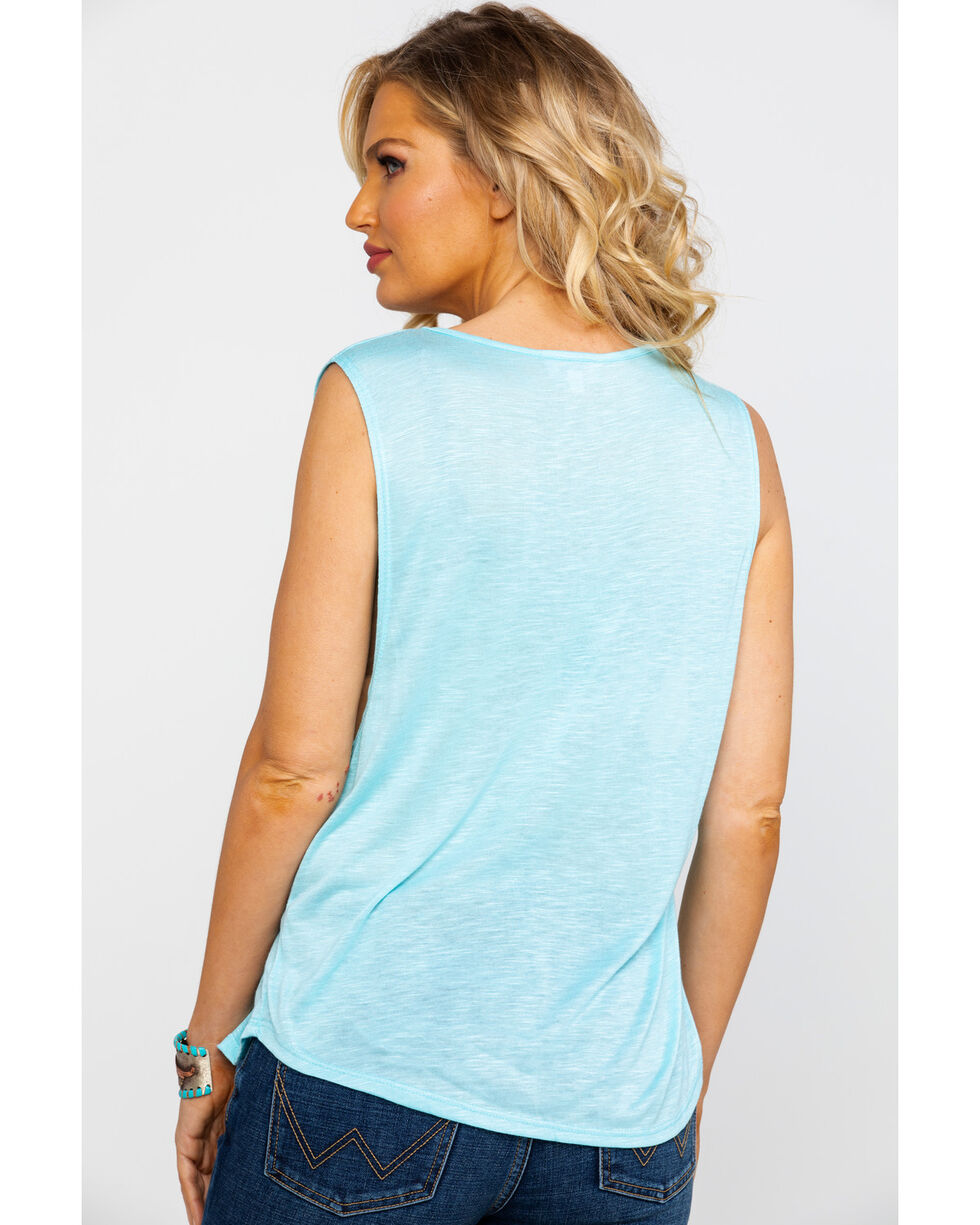 Red Label by Panhandle Women's Knit Muscle Tank , Blue, hi-res