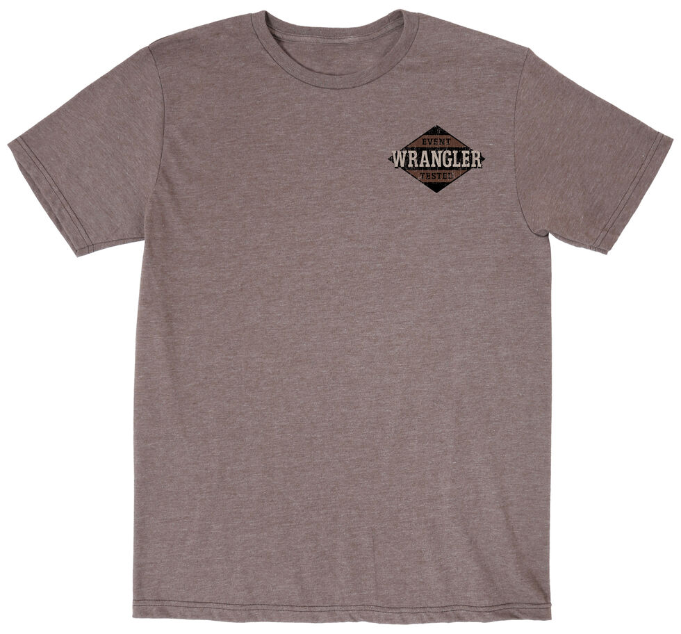Wrangler Men's Event Tested Tee, Brown, hi-res