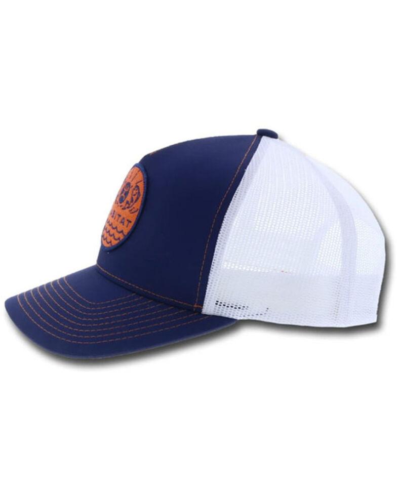 HOOey Men's Blue & White Element Habitat Patch Mesh-Back Ball Cap , Blue, hi-res