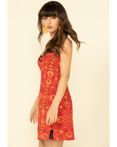 Idyllwind Women's Axl Slip Dress , Red, hi-res