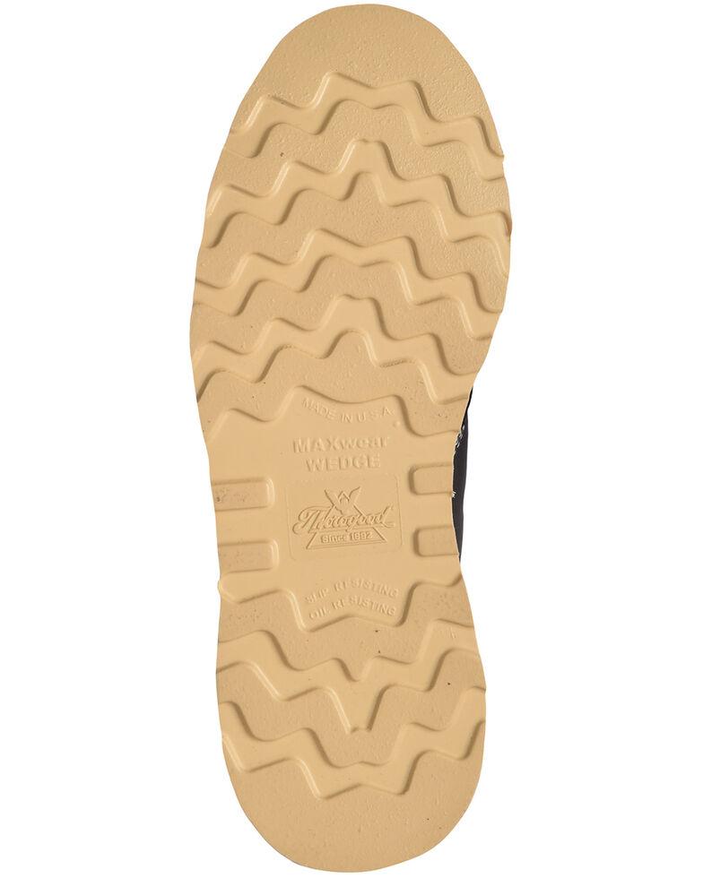 "Thorogood Men's 6"" American Heritage MAXwear Wedge Sole Work Boots - Soft Toe, Black, hi-res"
