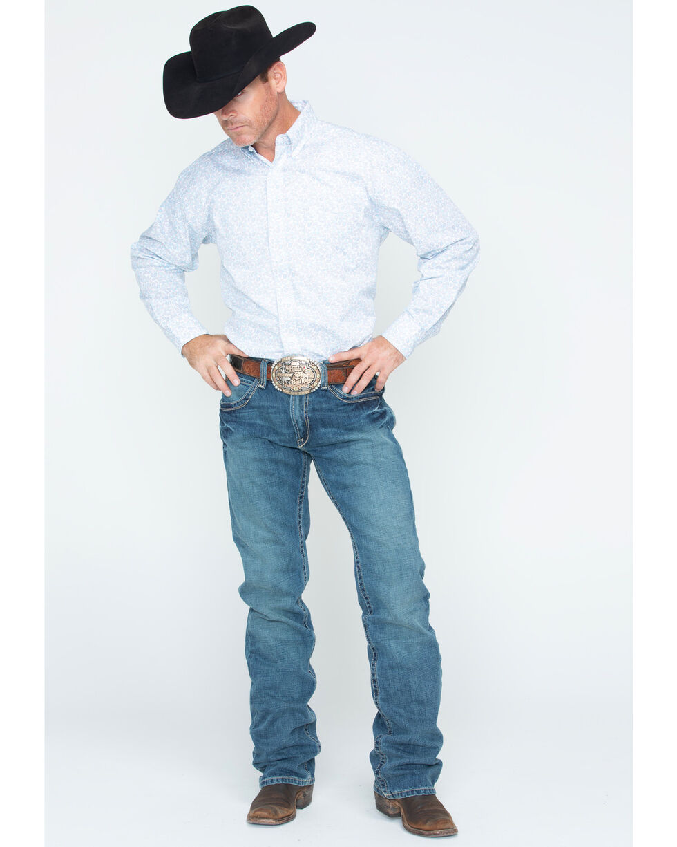 Ariat Denim Jeans - M5 Gulch Straight Leg, Med Wash, hi-res