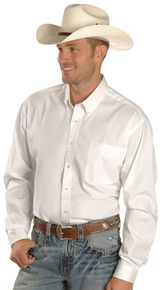 Cinch Men's Solid White Button-Down Western Shirt - Big & Tall, White, hi-res