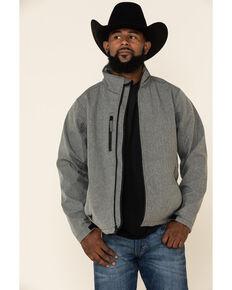 Cowboy Hardware Men's Grey Logo Poly Shell Jacket , Grey, hi-res