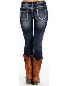 527dd96649e Rock   Roll Cowgirl Women s Dark Blue Mid-Rise Skinny Jeans