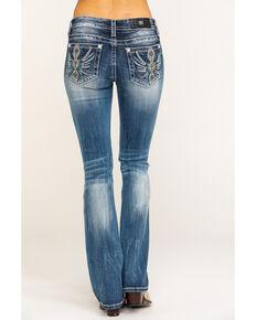 Miss Me Women's Aztec Wing Chloe Bootcut Jeans , Blue, hi-res