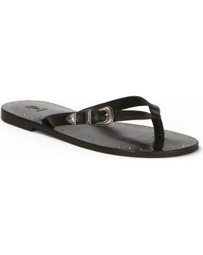 Frye Women's Ally Western Flip Flops , Black, hi-res
