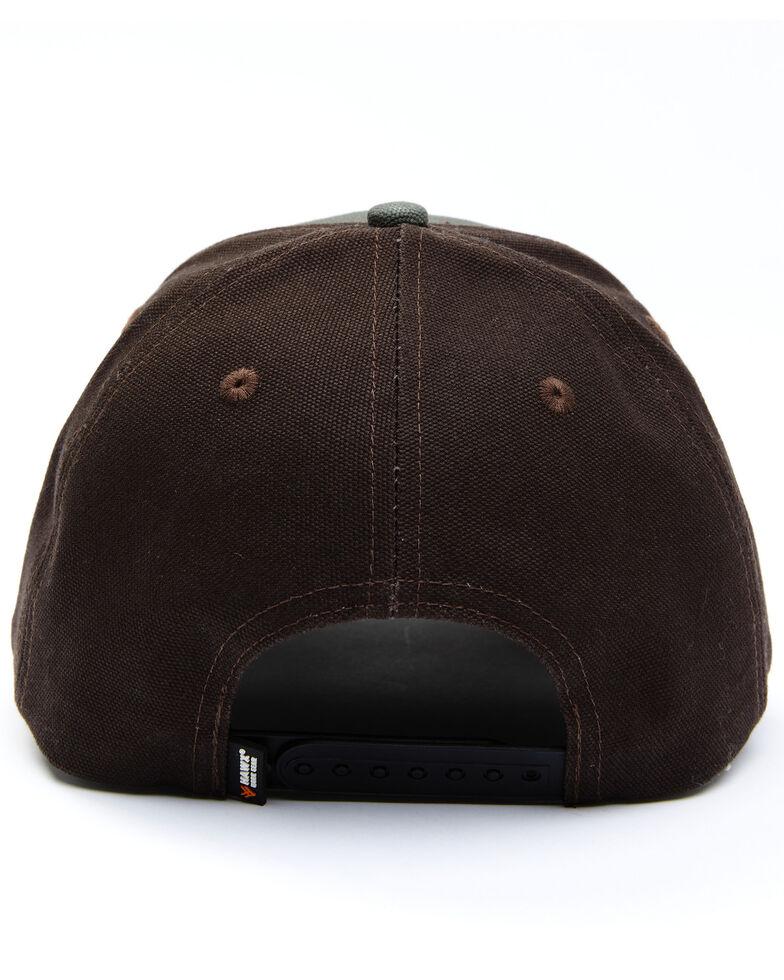 Hawx Men's Canvas Logo Two-Tone Ball Cap, Olive, hi-res