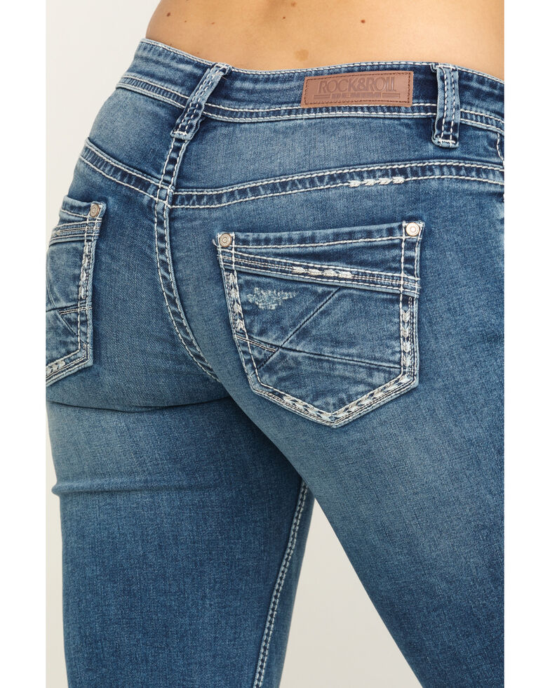 Rock & Roll Cowgirl Women's Medium Stretch Riding Jeans, Blue, hi-res