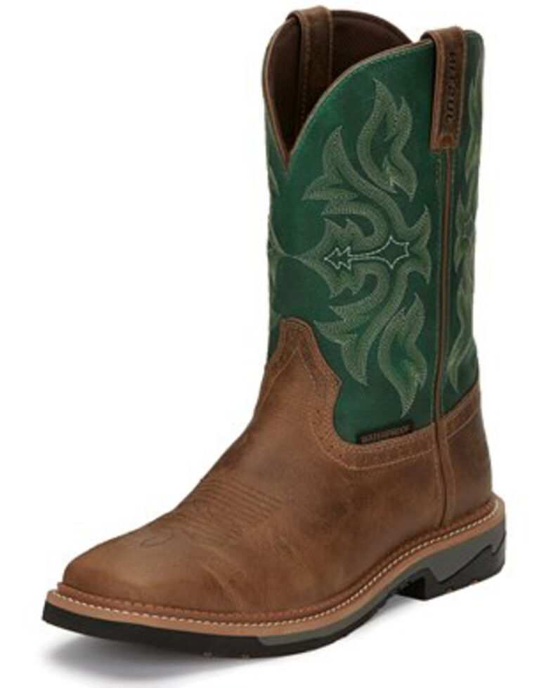 Justin Men's Stampede Work Boots, Tan, hi-res