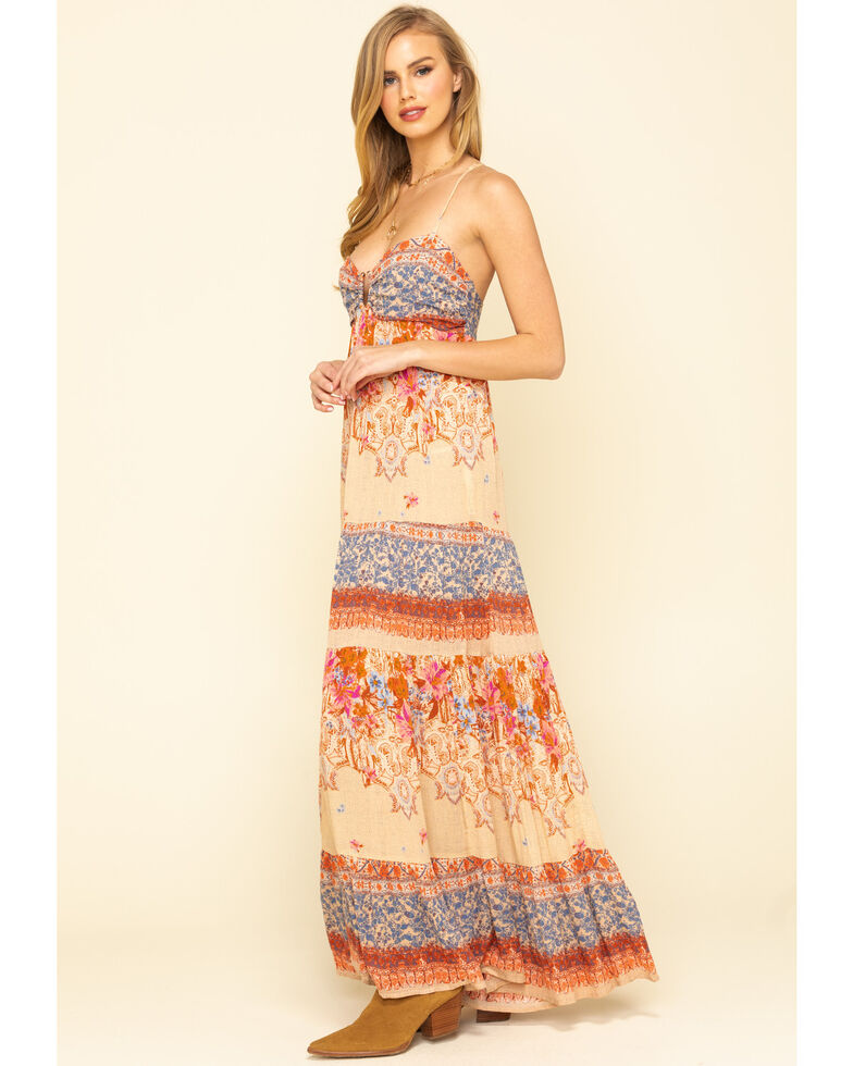 Free People Women's Give A Little Maxi Dress, Ivory, hi-res