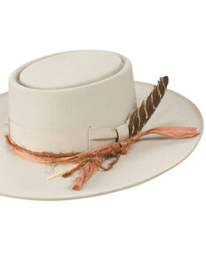 Stetson Women's Kings Row Royal DeLuxe Felt Hat, Light Grey, hi-res