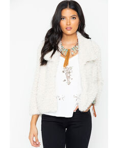 BB Dakota Women's Faux Fur Jacket, Ivory, hi-res