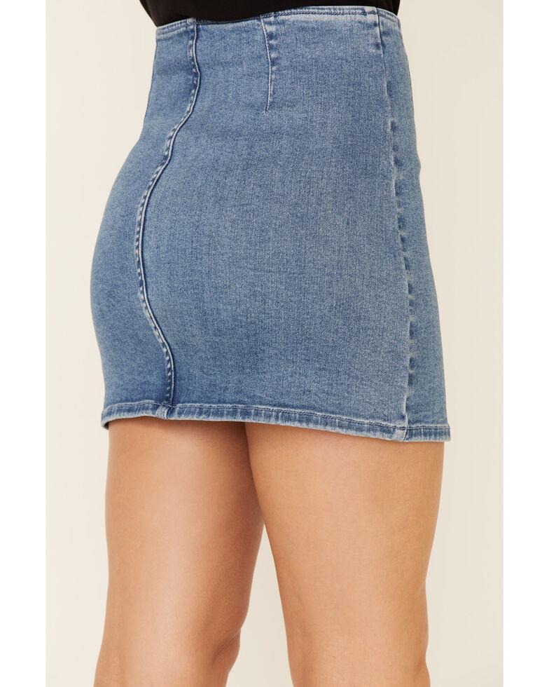 Idyllwind Women's Super Star Zip Front Mini Skirt, Medium Blue, hi-res