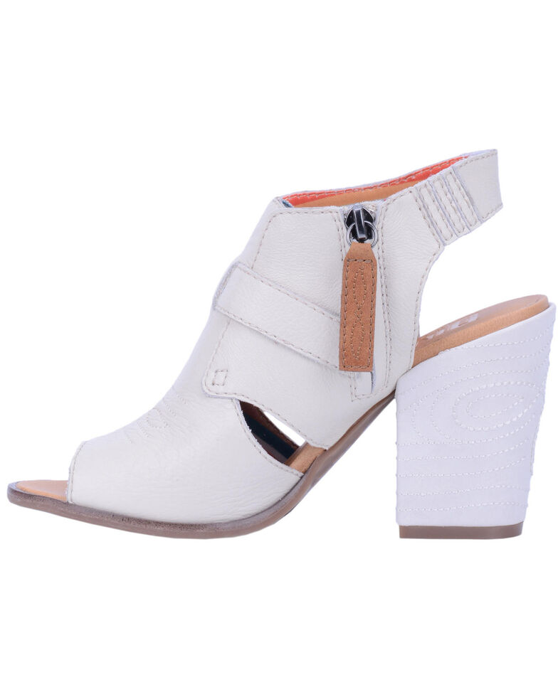 Dingo Women's Ivory Stirrup Harness Fashion Booties - Peep Toe, Ivory, hi-res