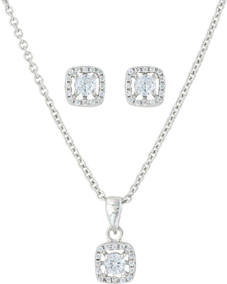 Montana Silversmiths Women's Boxed Star Jewelry Set , Silver, hi-res