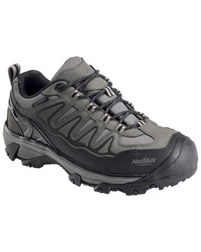 Nautilus Men's Waterproof Athletic Hiker Shoes - Steel Toe, Grey, hi-res