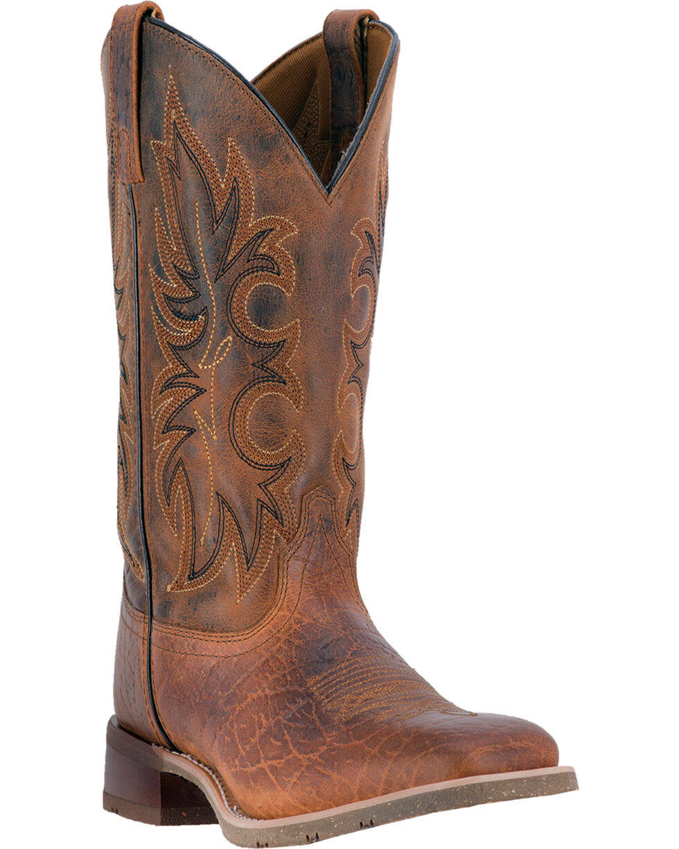 Laredo Men's Rancher Rust Stockman Western Boots - Square Toe, Brown, hi-res