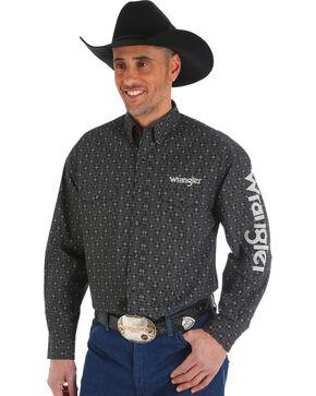 Wrangler Men's Black Cowskull Western Logo Shirt - Big & Tall, Black, hi-res
