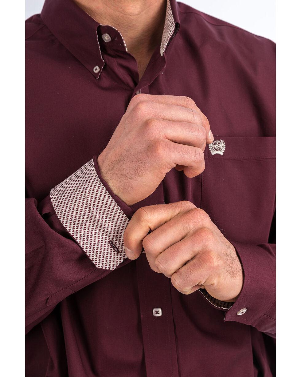 Cinch Men's Purple Solid Long Sleeve Western Shirt , Purple, hi-res