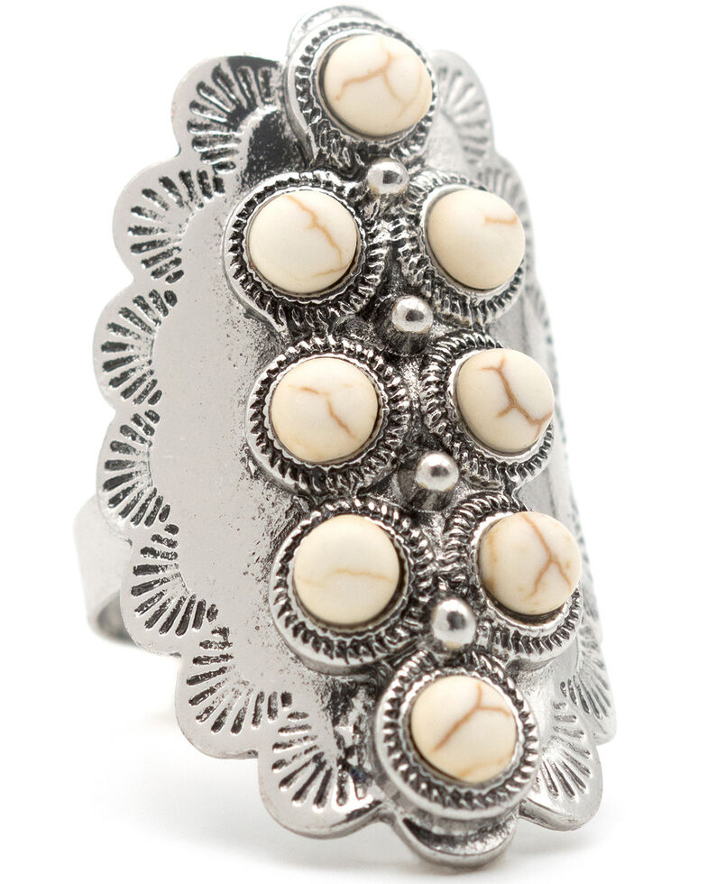 Cowgirl Confetti Women's Lucky Patch Ring, Silver, hi-res