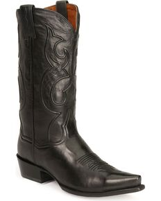 Dan Post Corded Western Boots - Snip Toe, Black, hi-res