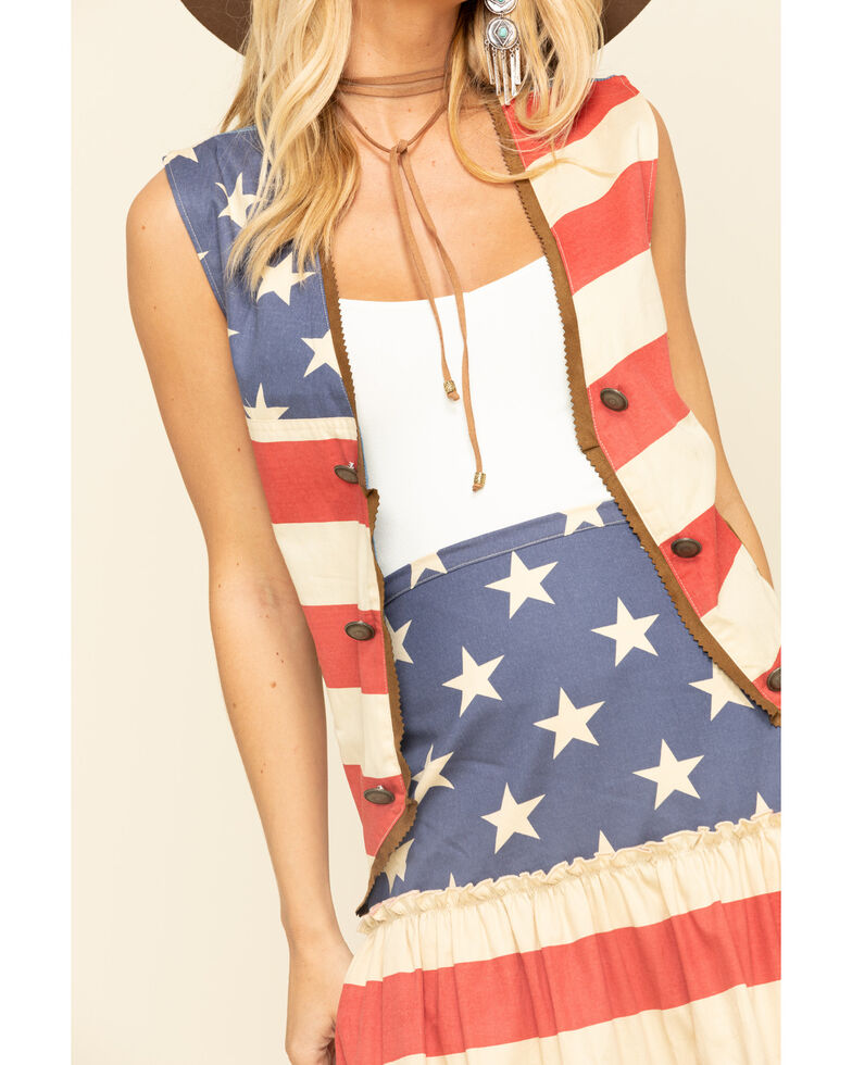 Tasha Polizzi Women's Patriot Vest, Multi, hi-res