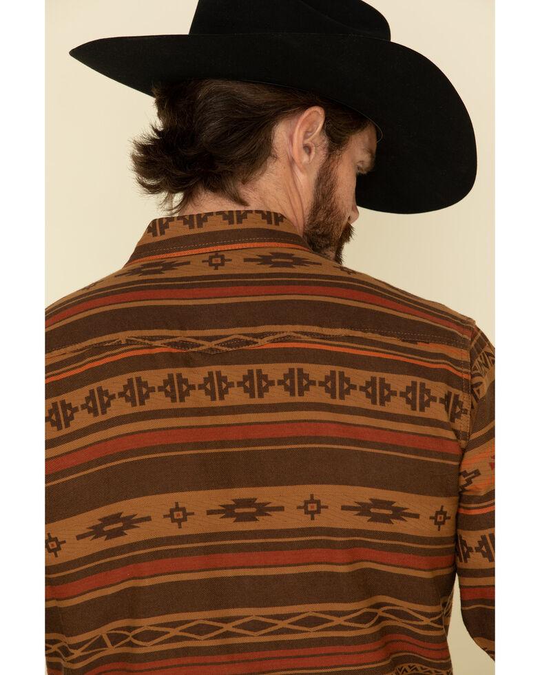 Ariat Men's Heffner Retro Striped Long Sleeve Western Shirt , Brown, hi-res