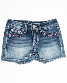 Grace in LA Girls' Americana Shorts, Blue, hi-res