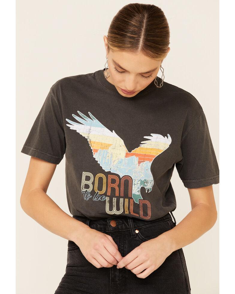American Highway Women's Born To Be Wild Graphic Tee , Black, hi-res