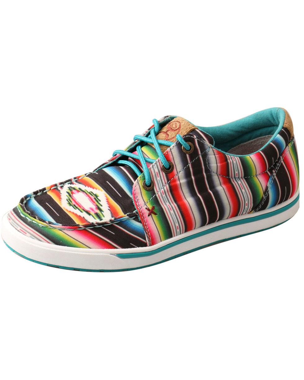Twisted X Women's Serape HOOey Loper Shoes - Moc Toe, Multi, hi-res