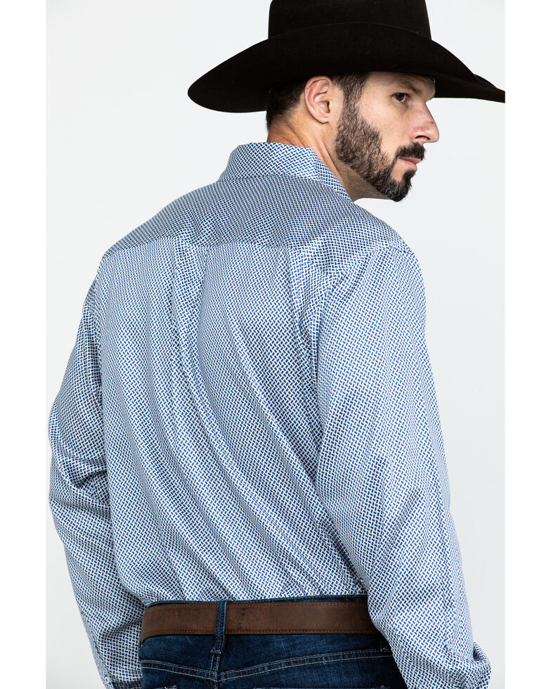 Cinch Men's Cream Tencel Geo Print Long Sleeve Western Shirt , Cream, hi-res