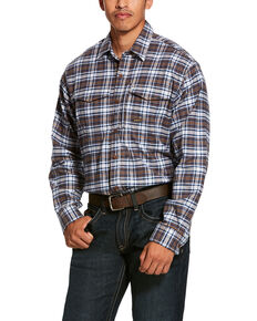 Ariat Men's Wildcat Rebar Flannel Durastretch Long Sleeve Work Shirt - Tall , Multi, hi-res